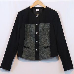 Cabi Mixed Media Button Up Jacket